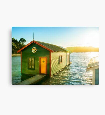Boathouse Sunrise Canvas Print