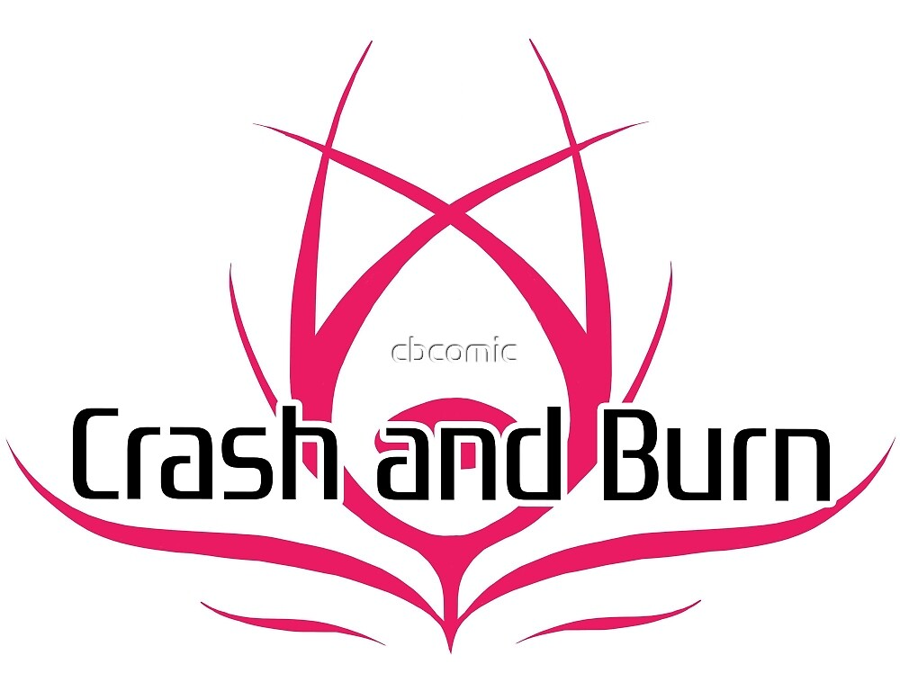 Crash and Burn Logo with Text by cbcomic