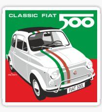 Fiat 500 Italian flag Sticker