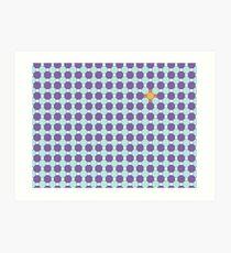 Purple & Orange Tessellation Tiles Art Print