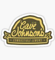 cave johnson's combustible lemons Sticker