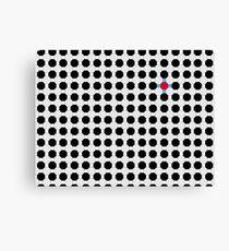 Grey & Red Tiling Tessellation Canvas Print