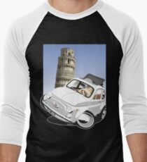 Fiat 500D caricature Pisa Men's Baseball ¾ T-Shirt