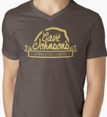 cave johnson's combustible lemons Men's V-Neck T-Shirt