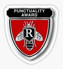 Rushmore Punctuality Pin Sticker