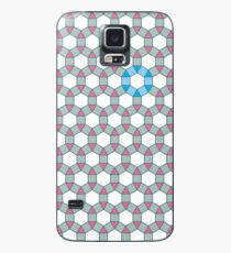 Tiling Tessellation In Green, Blue & Pink Case/Skin for Samsung Galaxy