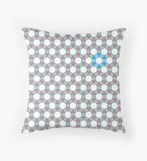 Tiling Tessellation In Green, Blue & Pink Throw Pillow