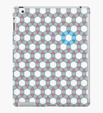 Tiling Tessellation In Green, Blue & Pink iPad Case/Skin