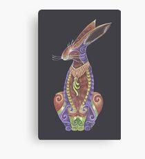 Hare Totem Canvas Print