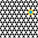 Black & White Tessellation Pattern by funmaths