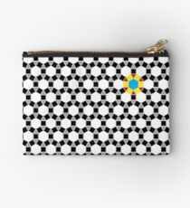 Black & White Tessellation Pattern Studio Pouch