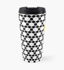 Black & White Tessellation Pattern Travel Mug