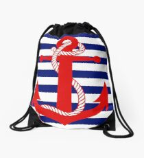 Ahoy! (blue) Drawstring Bag