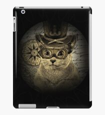 Cheeky Steampunk Cat with Goggles and Top Hat iPad Case/Skin