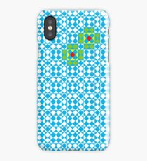 Tessellation tiling pattern in blue iPhone Case