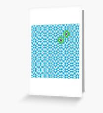 Tessellation tiling pattern in blue Greeting Card