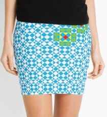 Tessellation tiling pattern in blue Mini Skirt