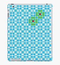 Tessellation tiling pattern in blue iPad Case/Skin