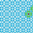 Tessellation tiling pattern in blue by funmaths
