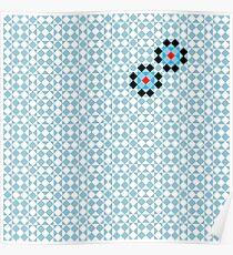 Math Tessellation Pattern Poster