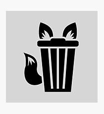 Furry Trash Icon Photographic Print