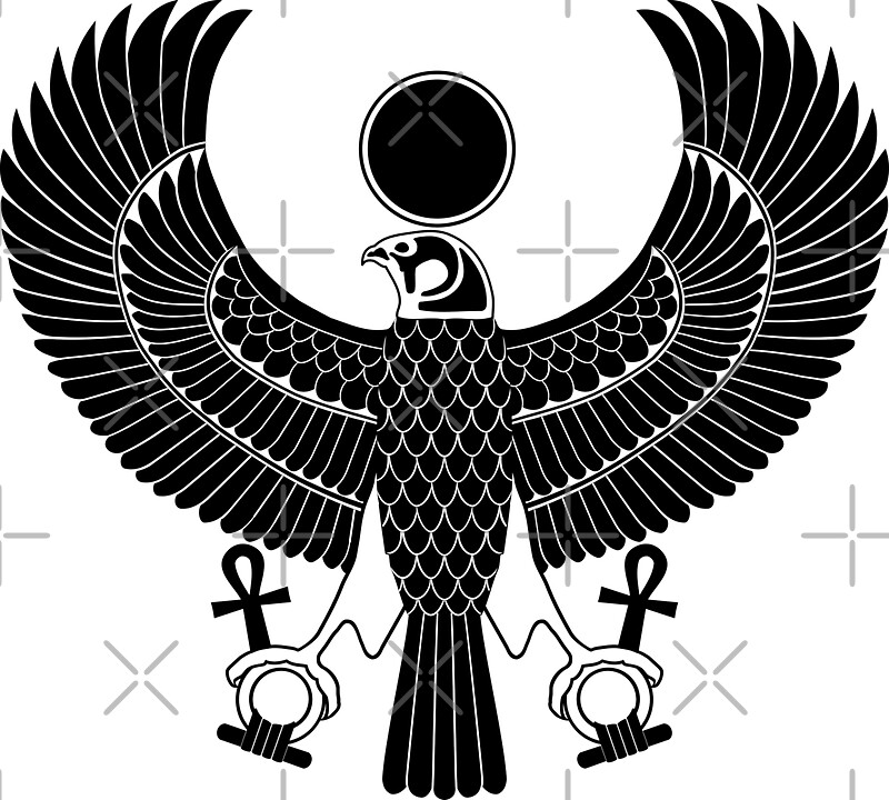 Egyptian falcon god horus
