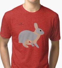 lilac tan rabbit Tri-blend T-Shirt