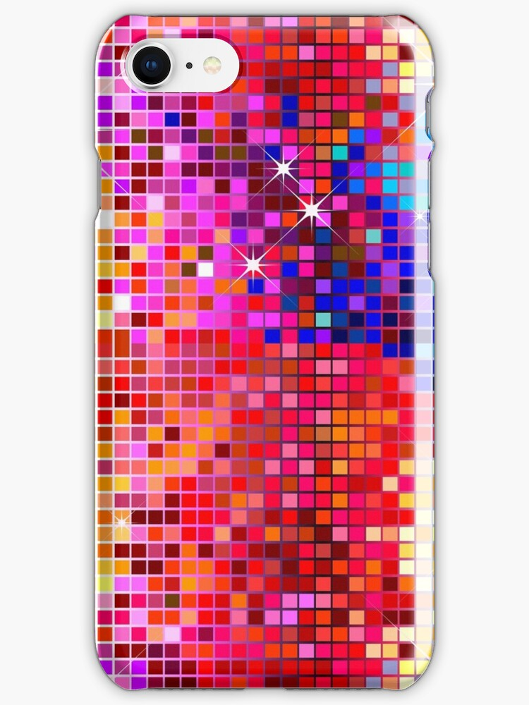 Metallic Colorful Sequins Look-Disco BallGlitterPattern  by artonwear