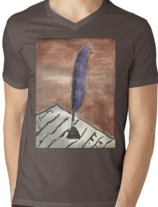 Purple Quill Love Letter Mens V-Neck T-Shirt