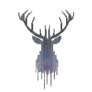 Space Deer by whitedesigner