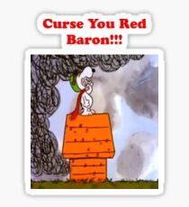 Curse you Red Baron! Sticker