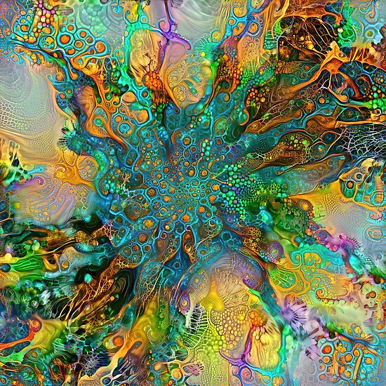 Deepdream floral fractalize space galaxy abstraction