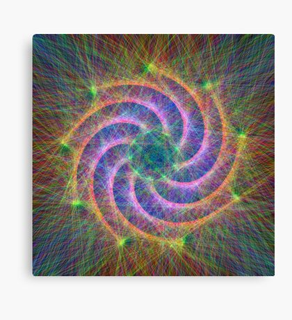 Optical lines Canvas Print