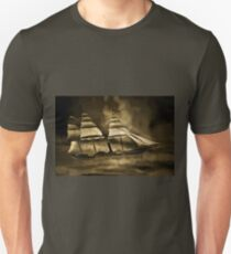 An old style digital painting of an Early American Sailing Ship/Paddle Steamer T-Shirt