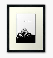 One Must Imagine Sisyphus as Happy Framed Print