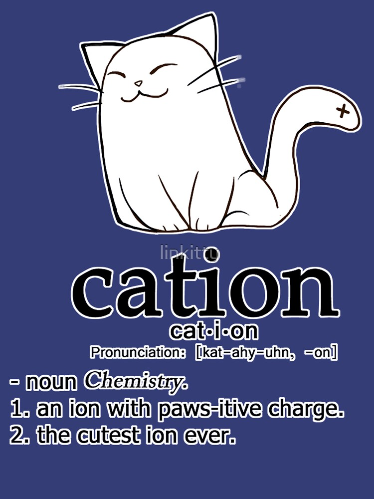 Cat-ion science puns de linkitty
