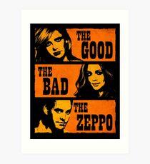 The Good The Bad The Zeppo Art Print