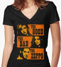 The Good The Bad The Zeppo Women's Fitted V-Neck T-Shirt