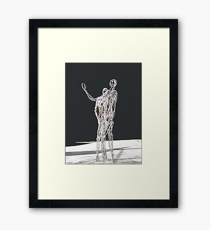 Silver Statues Framed Print