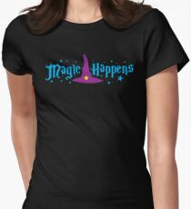 Magic Happens with witches hat T-Shirt