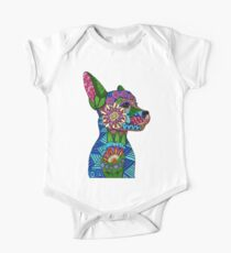 Folk Art Puppy One Piece - Short Sleeve
