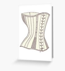Corset Greeting Card