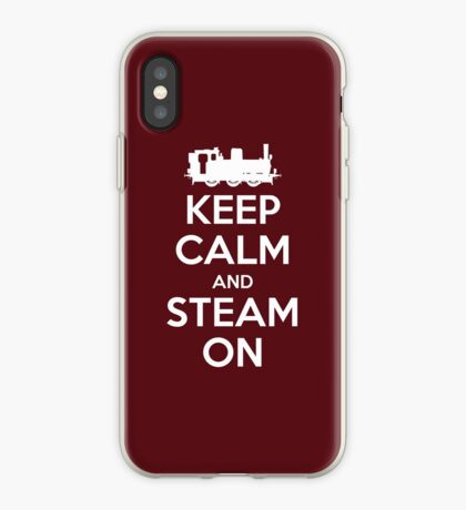 Keep Calm and Steam On Steam Engine #2A iPhone Case