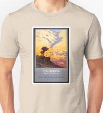 California Vintage Travel Poster Restored Unisex T-Shirt