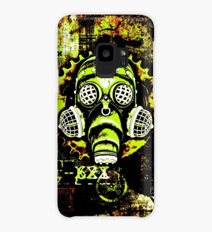 Steampunk / Cyberpunk Gas Mask Posterized Version Case/Skin for Samsung Galaxy