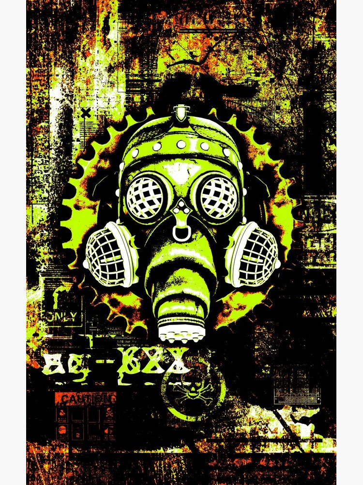 Steampunk / Cyberpunk Gas Mask Posterized Version by SC001