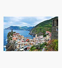 Vernazza Cinque Terre from Above Photographic Print