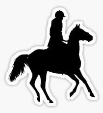 Horseriding Silhouette Sticker