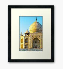 Closeup Of Taj Mahal Framed Print