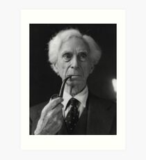 Bertrand Russell Pipe Art Print